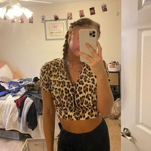 LA Hearts cheetah top